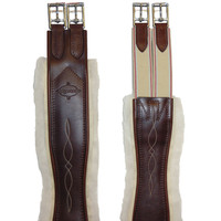 "Edgewood Fancy Stitched, Sheepskin Girth, Size 38"" Only"