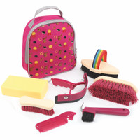Shires Equestrian Kids Grooming Kit, Raspberry