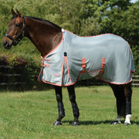 "Weatherbeeta Comfitec Airflow Fly Sheet, Grey/Orange/Blue, 60"" - 69"""