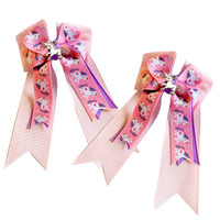 Belle & Bow Show Bows, Pink Unicorns
