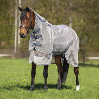 "Rambo Protector Fly Sheet, Oatmeal/Navy/White, 60"" - 69"""
