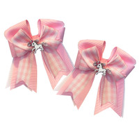 Belle & Bow SHORT-TAIL Show Bows, Pink Smarties
