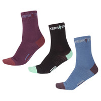 Kerrits Kids Paddock Boot Socks, Amethyst, Black & Bluestar