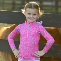 Belle & Bow Pink Belle, Long Sleeve Sun Shirt, Kids 2 - 10 Years