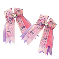 Belle & Bow Show Bows, Ponies and Bows on Lavender and Pink