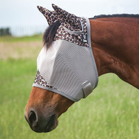 Cashel Crusader Fly Mask, Std with Ears, Leopard, 4 Sizes