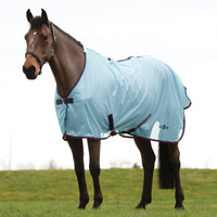 "Saxon Mesh Fly Sheet, Standard Neck,  Light Blue/Claret/Dark Blue, 48"" - 69"""