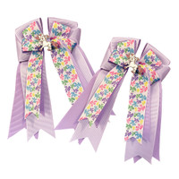 Belle & Bow Show Bows, Rainbelle Ponies with Lavender/Purple