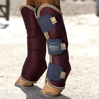 Amigo Shipping Boots , Fig/Navy/Tan, Pony