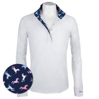 RJ Classics Rebecca Jr Shirt - White with Unicorns, XS - XL
