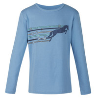 Kerrits Kids Pony Up Long Sleeve Tee, Sky Blue