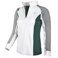 Kathryn Lily Tuxedo Block Competition Shirt, Seaside Gray/Green