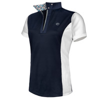 Kathryn Lily ProAir Polo, Navy/White French Bulldogs, Childs XS - L