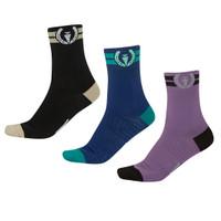 Kerrits Kids Paddock Boot Socks, Black, Plumeria & Sapphire