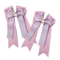 Belle & Bow Show Bows, Bellerina,  Pink & Lavender with Gold Accent