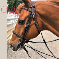 Walsh Leather DeGogue + Draw Reins With Rope, Pony