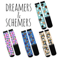 Dreamers & Schemers Boot Socks, A Pair & a SPARE