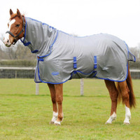 "Weatherbeeta Genero Combo Pony Fly Sheet, Grey/Blue, 66"" & 69"" Only"