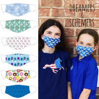More Dreamers & Schemers Face Masks, Small Child Size
