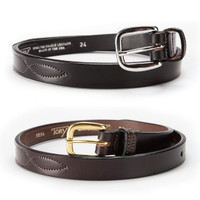 "Tory 1"" Youth Fancy Stitch Belt, Black or Havana, 20'' - 26''"