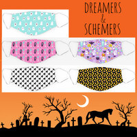 Dreamers & Schemers Halloween Face Masks, Small Child Size