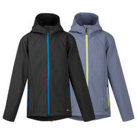 Kerrits Kids Soft Shell Jacket, Black and Blue Shadow