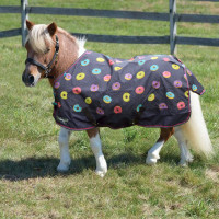 "Shires Miniature Highlander Rain Sheet, Donut Print, 33"" - 45"""