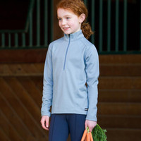 Kerrits Kids Chill Chaser Zip Neck, Ash Blue