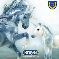 Breyer  Cascade & Caspian, Unicorn Mare & Foal