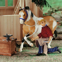 "Breyer Farrier with Blacksmith Tools, 8"" Figure"