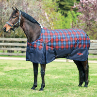 "Saxon 1200D Turnout Sheet, Navy/Red/ Blue Plaid, 60"" - 69"""