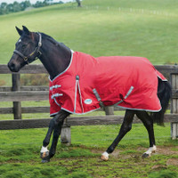 "Weatherbeeta Comfitec Classic Medium Turnout, Red/Silver/Navy, 48"" - 69"""