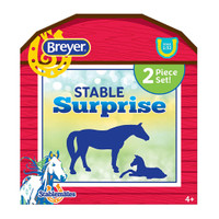 Breyer Stablemates Mare & Foal Stable Surprise