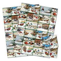 Thelwell Ponies Christmas Gift Wrap with Tags