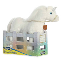 "Breyer Plush by Aurora, 13"" White Unicorn, Xavier"