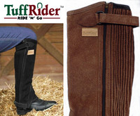 TuffRider Suede Half Chaps, Adult XS, S & M Only