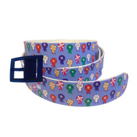 C4 Kathryn Lily Ribbons Belt and Navy Buckle