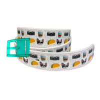 C4 Kathryn Lily Taco Emoji Belt and Turquoise Buckle