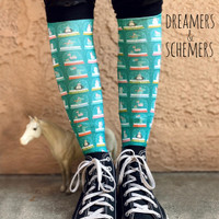 Dreamers & Schemers Boot Socks, Pair & a SPARE, Snow Globe