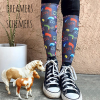 Dreamers & Schemers Boot Socks, Pair & a SPARE, Mare Goods More Leg