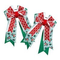 Belle & Bow Holiday Show Bows, Santa Belles, Green, Red & Light Blue