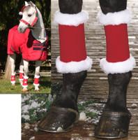 Holiday Horse Wear, Set of 4 Santa Leg Wraps