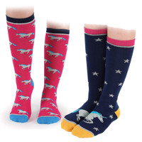 Shires Unicorn Socks - Childs & Ladies