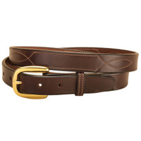 "Tory 1"" Fancy Repeated Stitch Belt, Havana, 28"" - 32"""