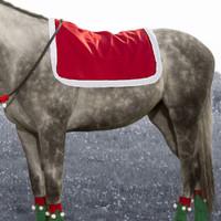 Holiday Horse Wear, Santa Saddle Pad Cover