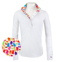 RJ Classics Rebecca Jr Shirt - White with Popsicles, XS - XL
