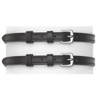 Camelot Spur Straps with Keepers - Black, Childs & Ladies