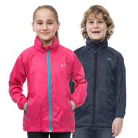 Mac In A Sac Kids Packable Rain Jacket, Fuchsia & Navy