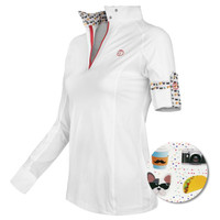 Kathryn Lily ProAir3 Long Sleeve White Shirt, Taco Emoji, Childs XXS - L