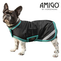 Horseware Amigo Waterproof Dog Blanket, Black/Teal/Dark Cherry